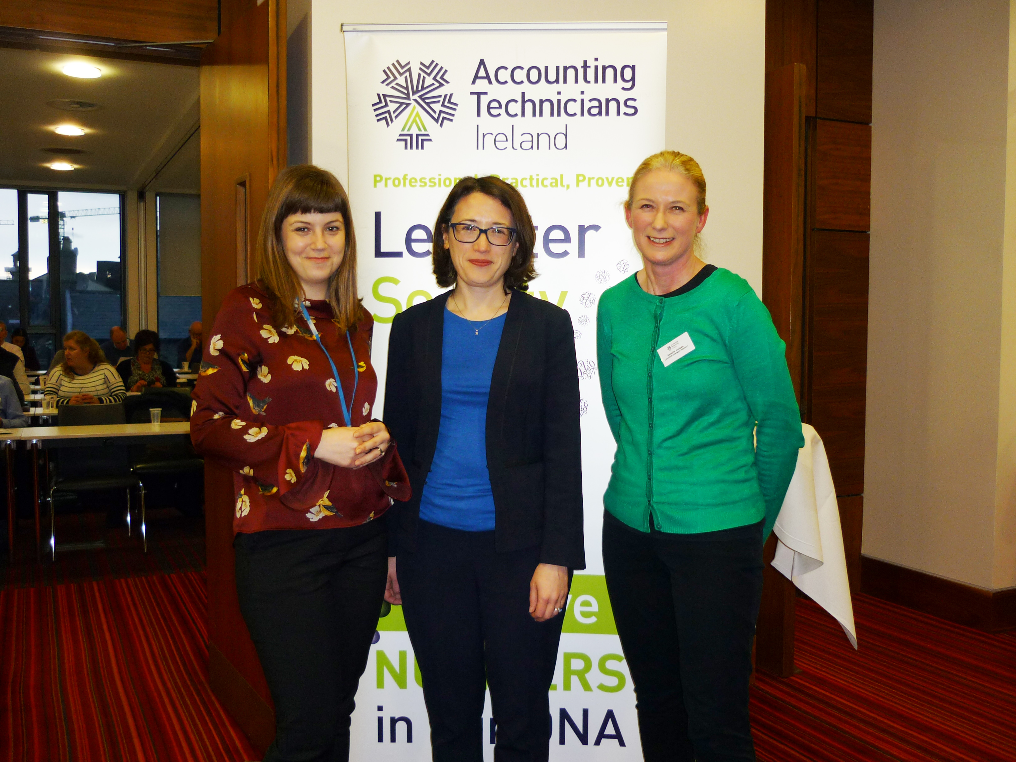 : Raluca Meraru-Bindac and Nicola Colleran from RSM Ireland with Sandra Colgan
